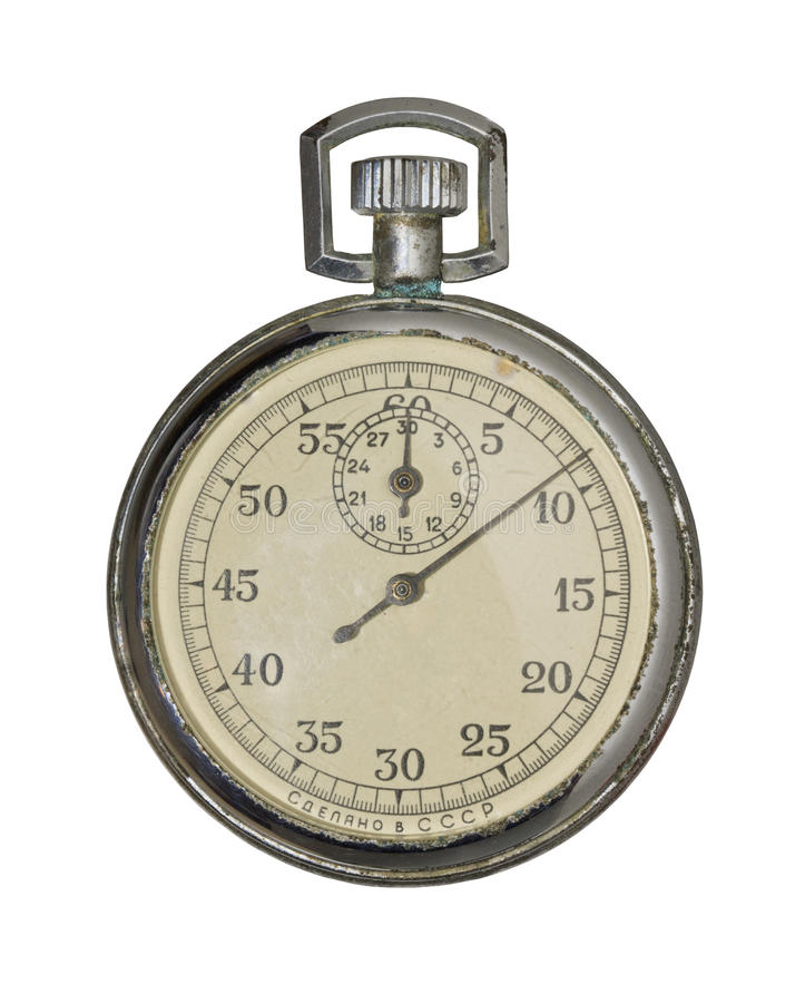 Free Old Soviet Stop Watch. Royalty Free Stock Image - 23714386