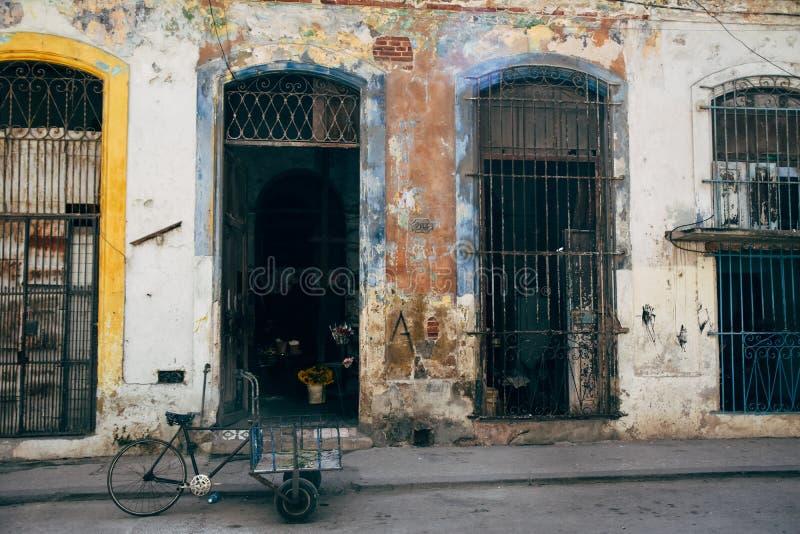 Old Spanish architecture in Havana, Cuba. Typical old rustic rundown Spanish architecture in Havana, Cuba royalty free stock photography