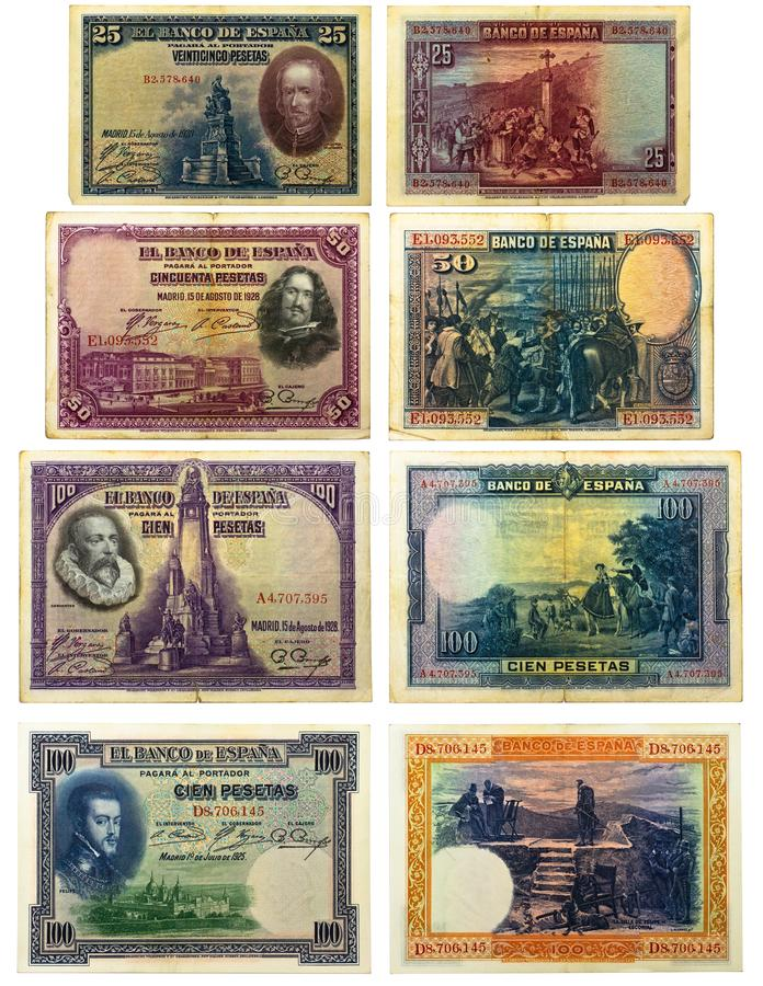 Download Old Spanish Banknotes Stock Images - Image: 24243384
