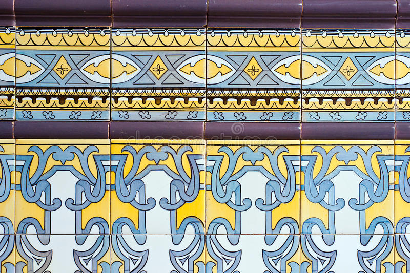 Download Old Spanish Ceramic Tiles Wall Stock Image - Image: 25347173