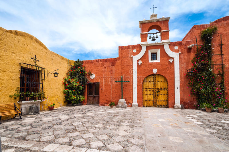Old Spanish Colonial mansion, Arequipa, Peru royalty free stock images