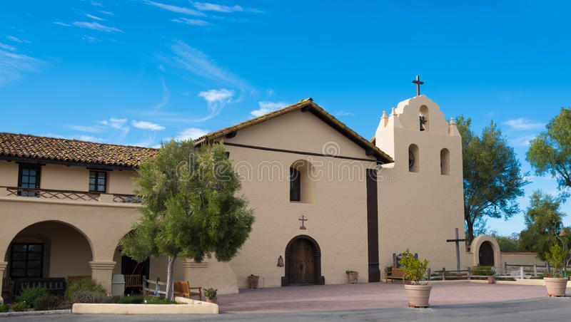 Old Spanish mission in Solvang California royalty free stock images