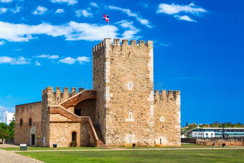 Old spanish Ozama fortress in Santo Domingo, Dominican Republic.  stock photography