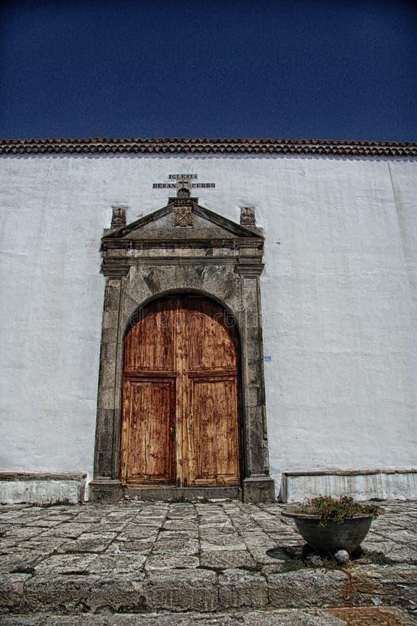 Free Old Spanish Weathered Door At Vilaflora, Tenerife Royalty Free Stock Image - 123439936