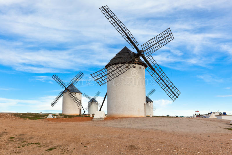 Download Old Spanish Windmills Royalty Free Stock Photography - Image: 25673007