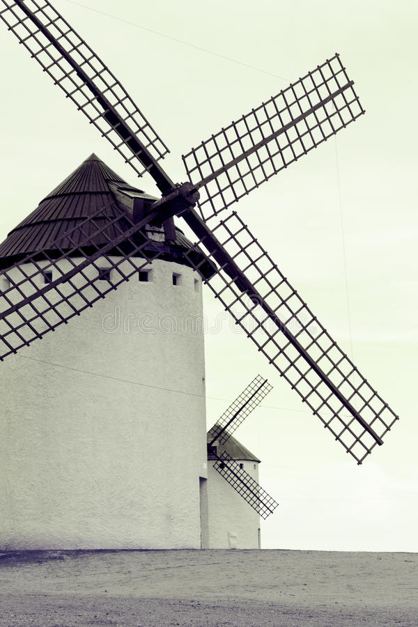 Download Old Spanish Windmills, Toned Image Stock Image - Image: 25689827