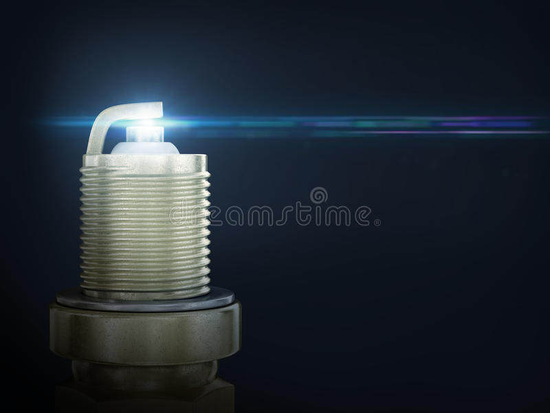 Old spark plug isolated royalty free stock photo