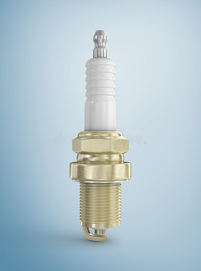 Old spark plug royalty free stock image