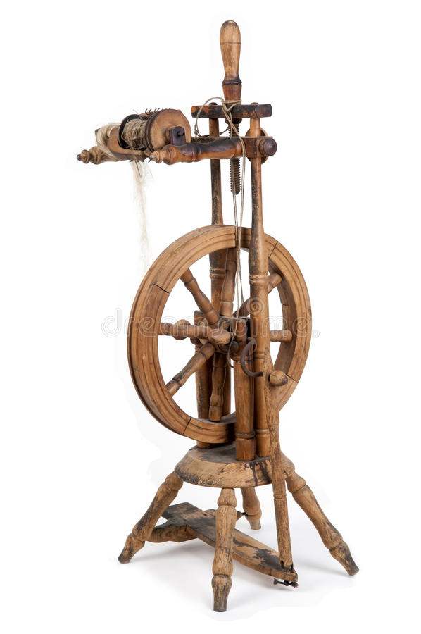 Old spinning wheel royalty free stock images