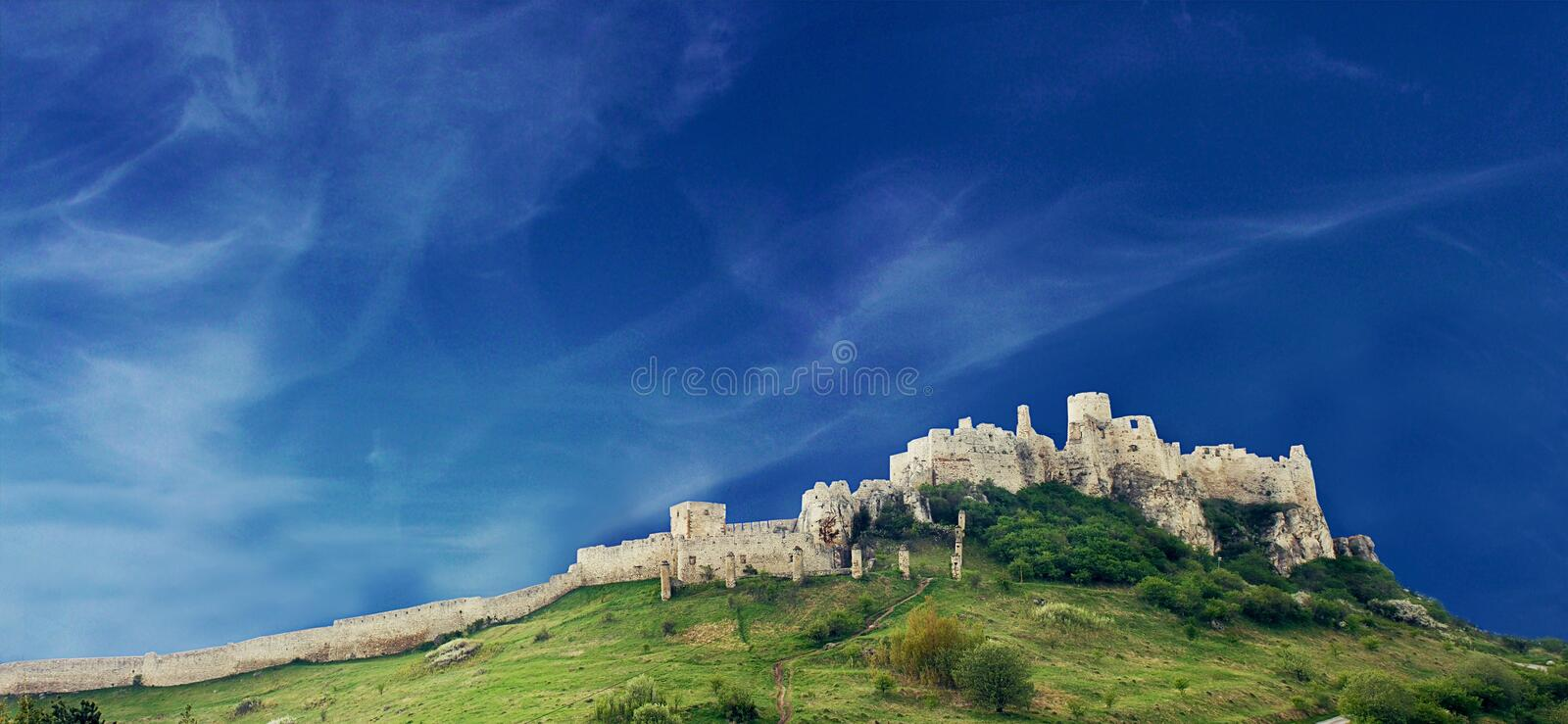 Old Spiss Castle in Slovakia royalty free stock photo