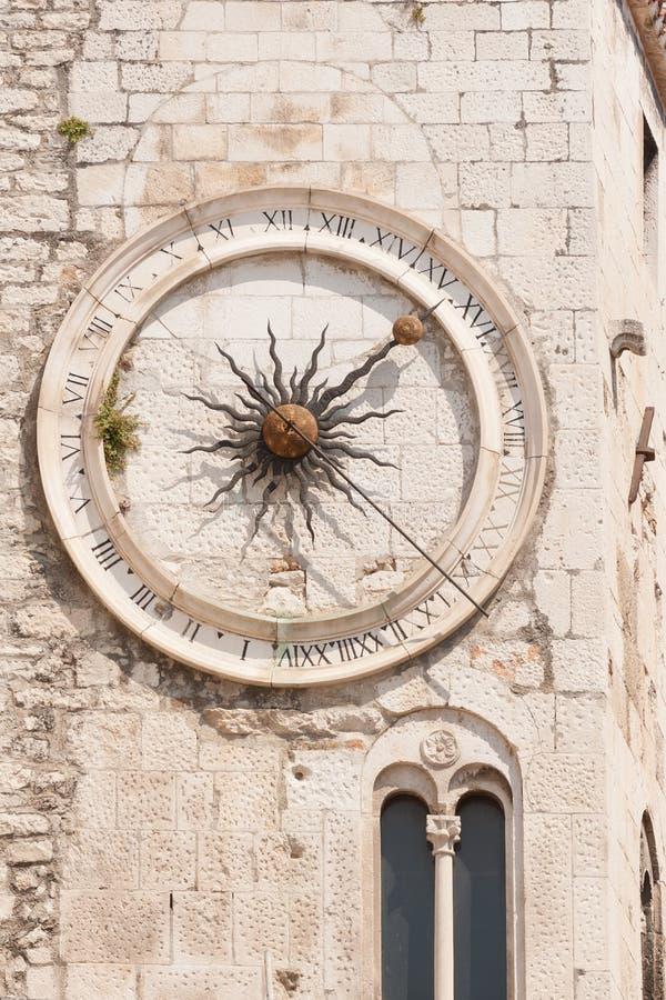 Old Split clock royalty free stock image
