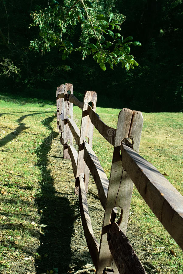 Old Split Rail Fence stock photos