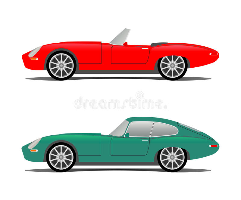 Old sport car stock vector. Illustration of cabrio, classic - 10773851