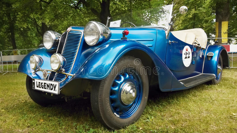 Old Sports and Racing Cars. Tatra 57 A, Sport Roadster ( 1936 ) after renovation. Tatra vehicles. Czech Republic stock photography