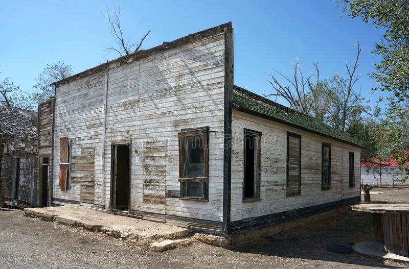 Old Square Fronted Wooden Building, Utah. Royalty Free Stock Image