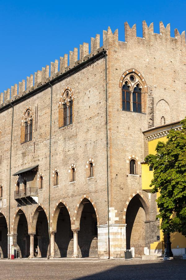 Old square in Mantova, Italy royalty free stock photography