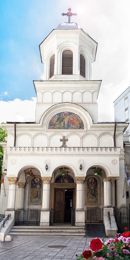 Saint John New Church In Bucharest Romania. The Saint John New Church near Unirii Square in Bucharest, Romania royalty free stock image