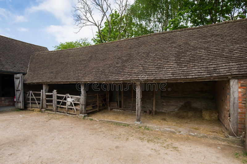 Old stable stock photo