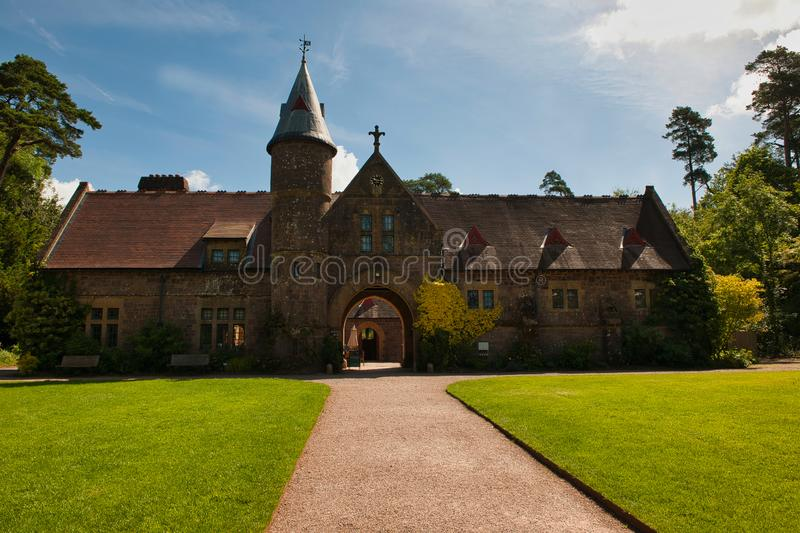 The Old Stables at Knightshayes. The Stables at Knightshayes Balham Tiverton Devon.iStarted in 1869 the house is the work of William Burges who is famed for his royalty free stock photography