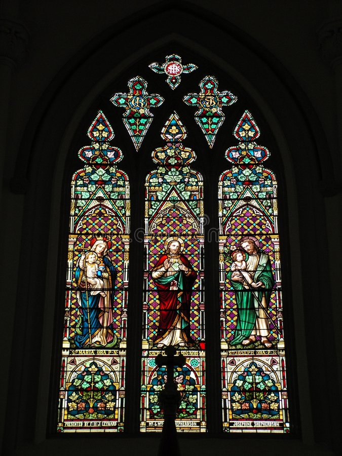 Free Old Stained Glass Window Stock Photography - 1369162