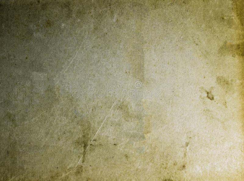Old stained yellow and brown paper texture blank background template stock photography