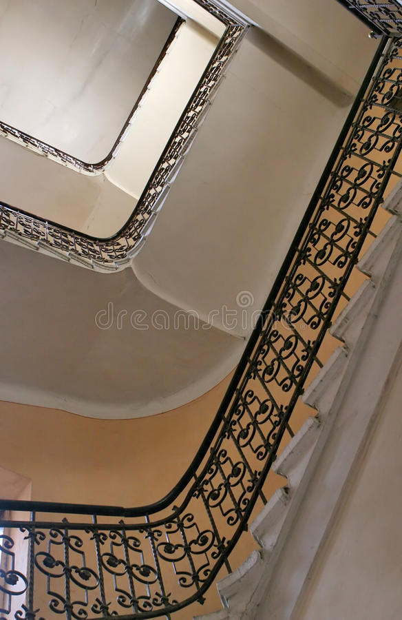 Download Old staircase from below stock image. Image of concrete - 22977997