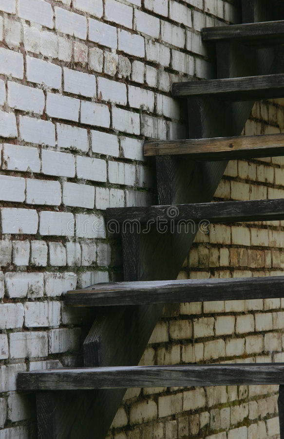 Old Staircase and Wall royalty free stock photo