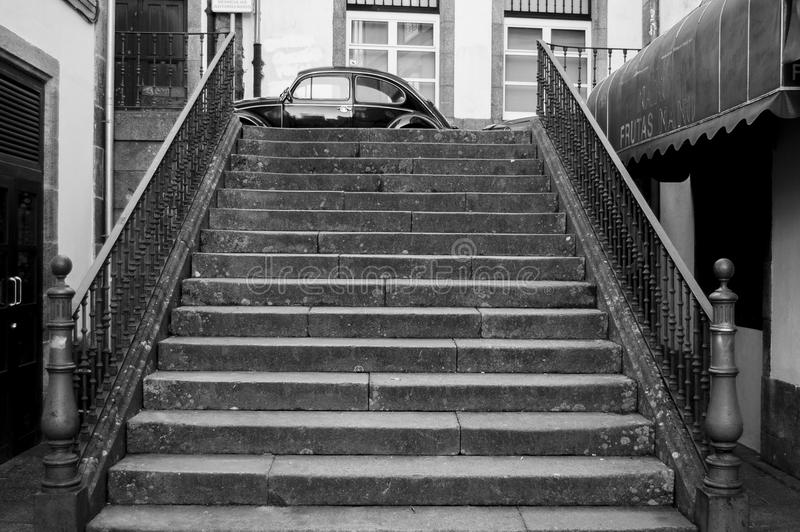 Old stairs royalty free stock images
