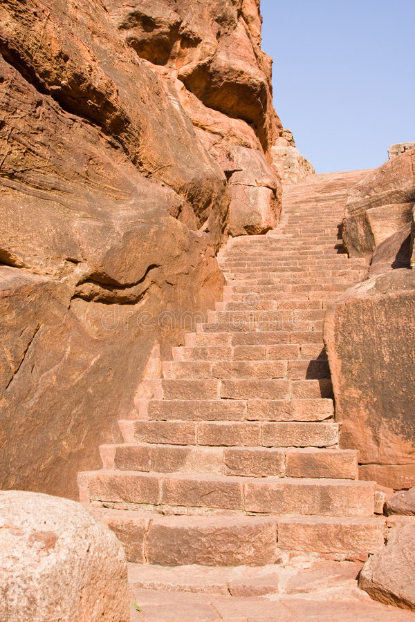 Download Old Stairs Leading To Temple On The Cliff Stock Images - Image: 7175814