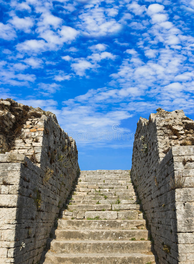 Download Old stairs and sky stock photo. Image of entry, career - 22976344