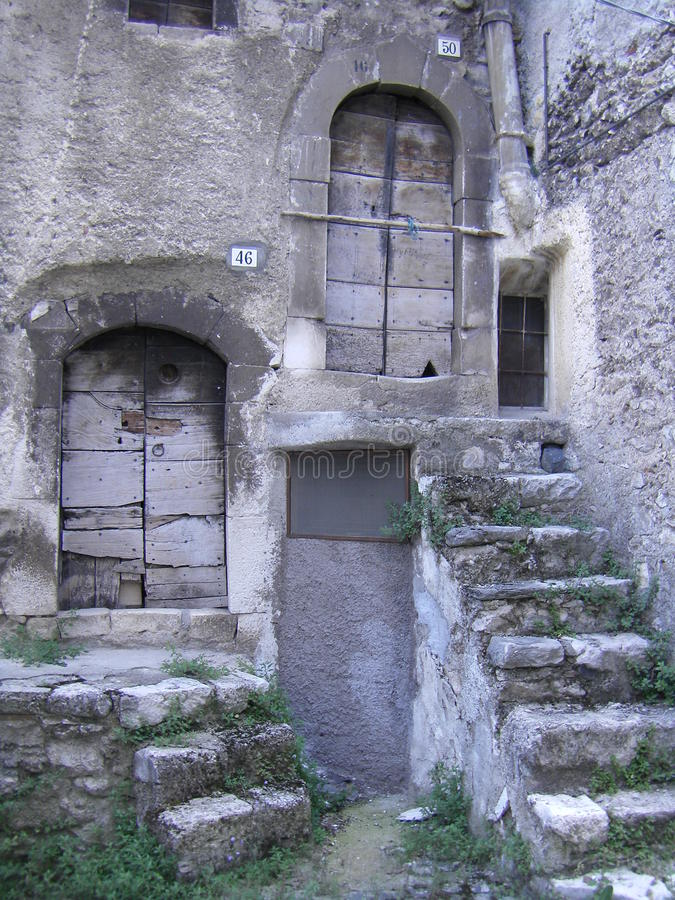 Download Old Stairs To Wooden Doors In Italian Village Stock Image - Image of village & Old Stairs To Wooden Doors In Italian Village Stock Image - Image of ...