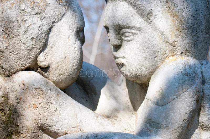 Old statues look. In the sun royalty free stock photo