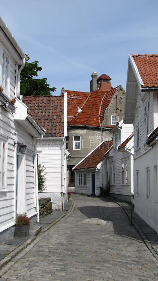 Old Stavanger - Street View 3 Stock Photo