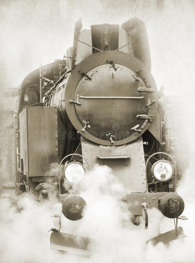 Free Old Steam Locomotive Stock Photography - 44054932