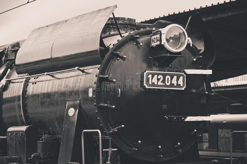 Old steam locomotive light royalty free stock images
