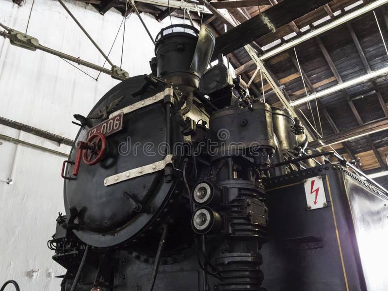 Old steam locomotive railway machine stock photography