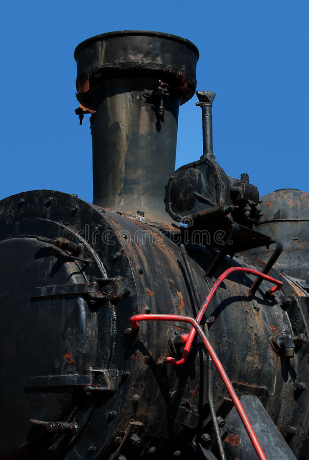 Old steam locomotive-1 stock images