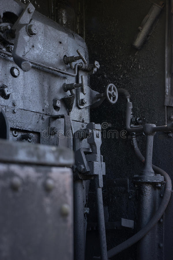 Old steam train furness stock photo