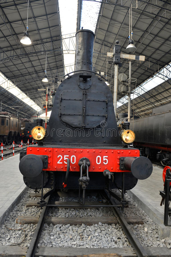 Free Old Steam Train On The Railway Station Royalty Free Stock Photo - 36534675