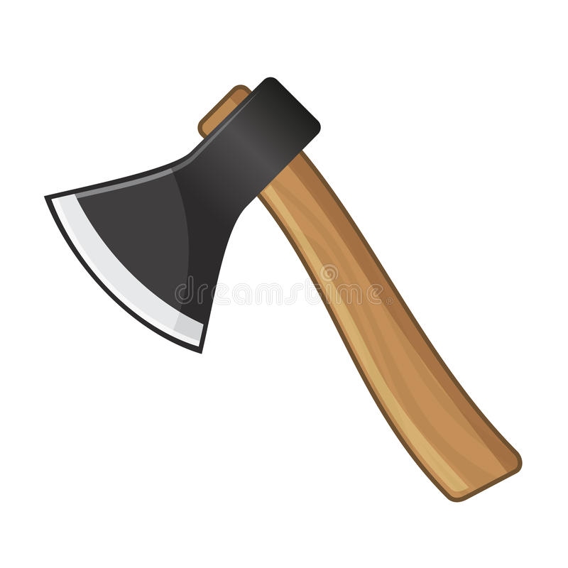 Free Old Steel Axe On White Background. Vector Stock Images - 39352524