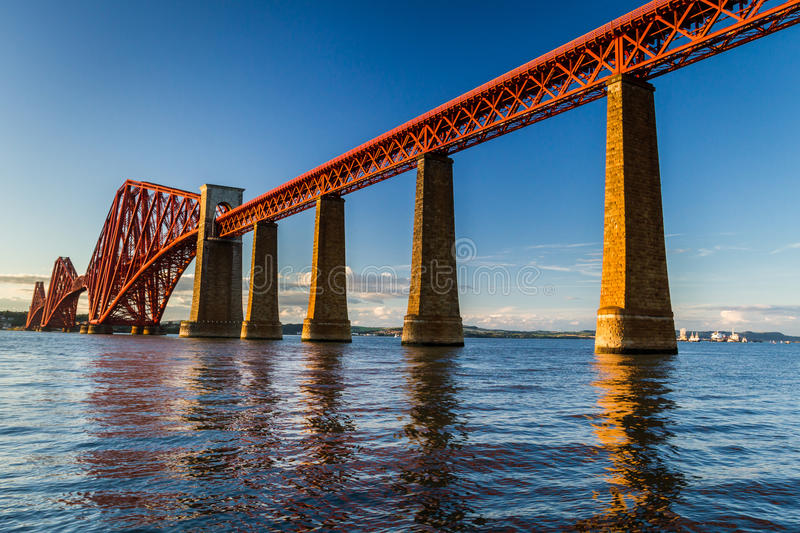 Old steel bridge in Scotland royalty free stock photo