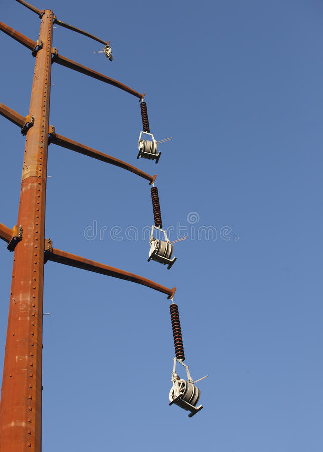 Old Steel Electrical Pylons stock photo