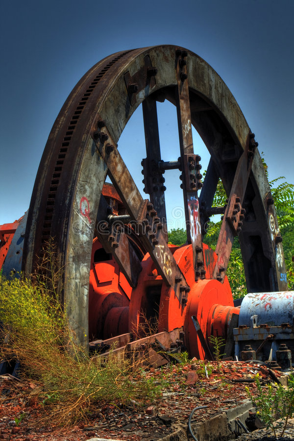 Old Steel Mill stock image