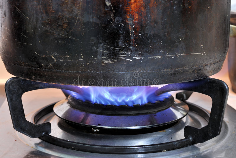 Download Old Steel pot and Fire stock photo. Image of boiling, food - 8872562