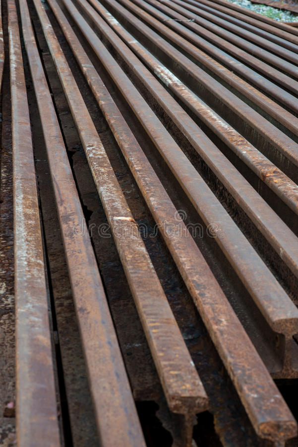 Old steel of railroad royalty free stock photography