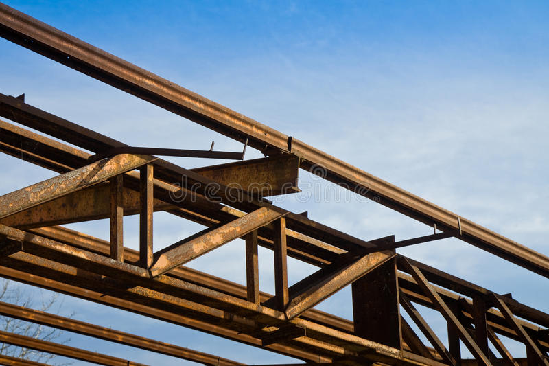 Old steel structure stock photo