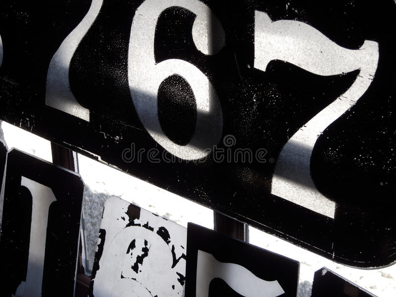 Old Stencils royalty free stock photography