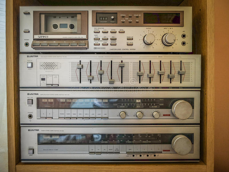 Old stereo sound system royalty free stock photos