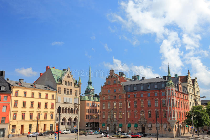 Old Stockholm architecture. stock image