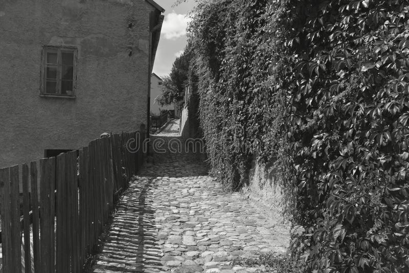 Old stone alleyway royalty free stock photo